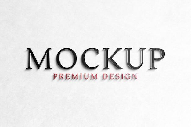 Mockup logo premium sul muro bianco