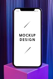Mockup dello schermo del telefono cellulare premium