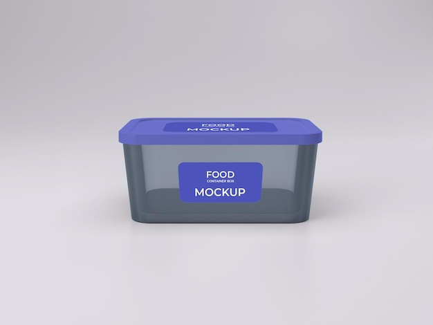 Vista frontale del design mockup del contenitore per alimenti personalizzabile di qualità premium