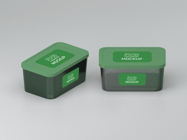 Design mockup di contenitori per alimenti personalizzabili di alta qualità