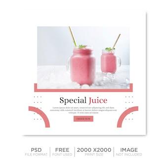 Modello premium post drink sui social media psd