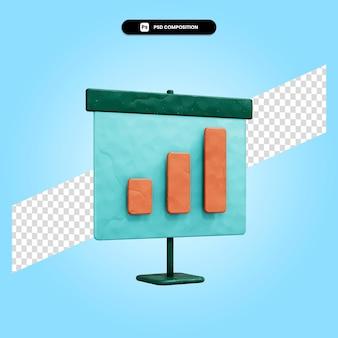 Illustrazione di rendering 3d di presentazione isolata