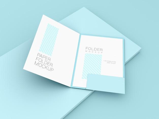 Cartella di presentazione con mockup di carta a4