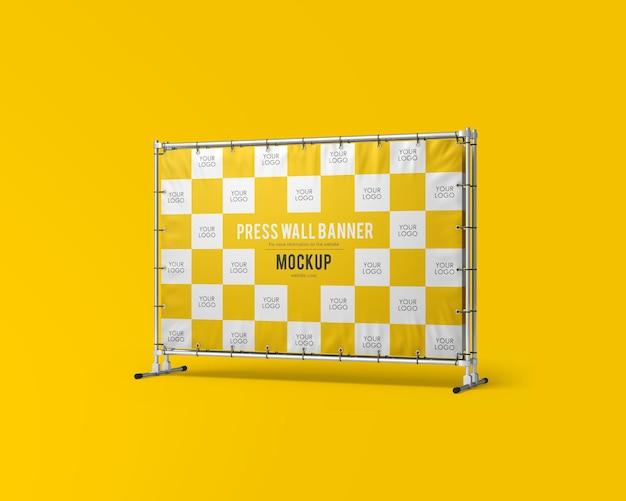 Stampa mockup di banner a muro