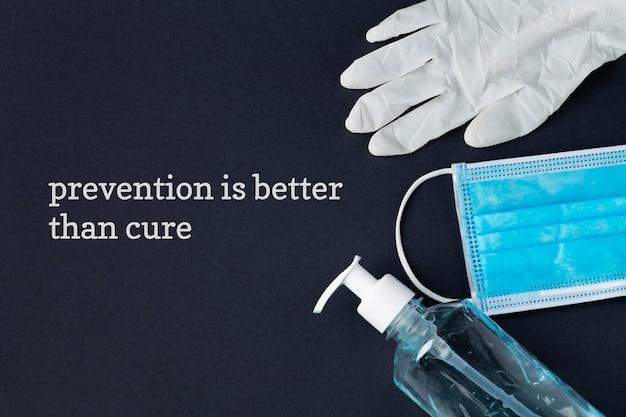 Prevenire è meglio che curare il messaggio di consapevolezza del coronavirus