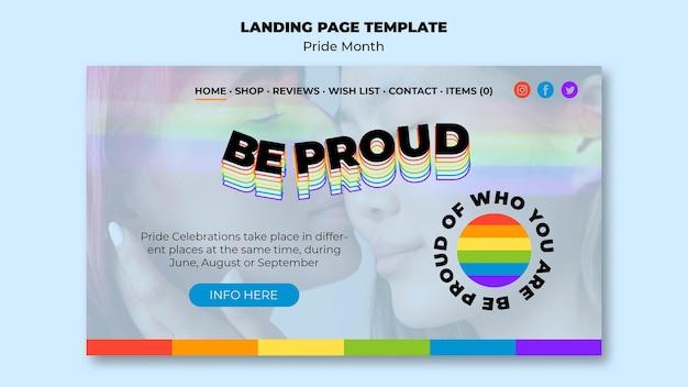 Pagina di destinazione del mese dell'orgoglio