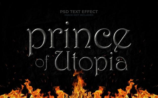 Mockup effetto testo principe di utopia