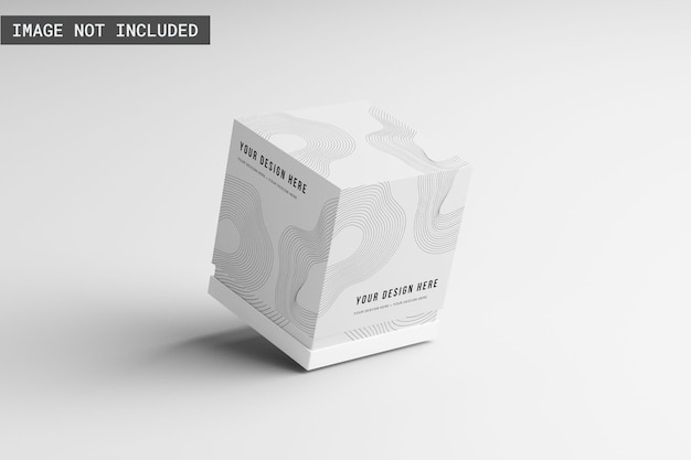 Mockup della scatola del prodotto