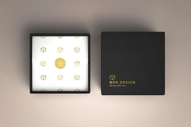Scatola del prodotto con design mockup in carta decorata