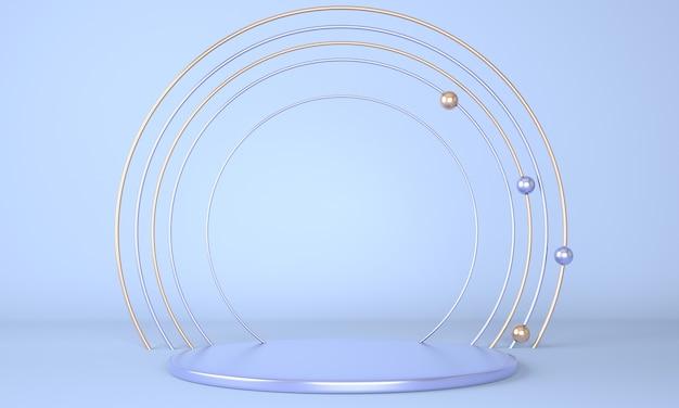 Podio del prodotto come concetto astratto di geometria minima