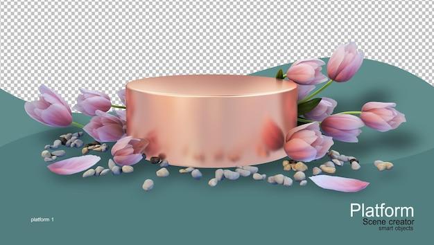 Supporto per prodotti con vari tipi di fiori