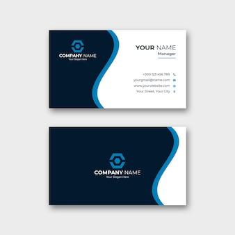 Modello di biglietto da visita professionale e blu