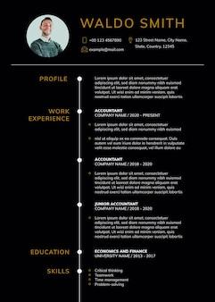 Curriculum psd scaricabile modello di cv modificabile professionale professionale