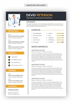 Modello di curriculum professionale in cv