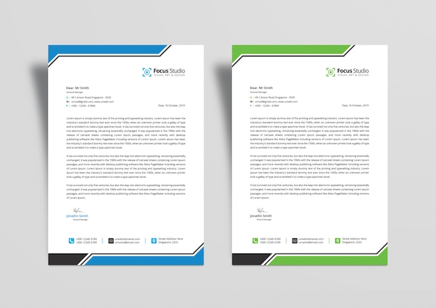 Modelli di design carta intestata professionale psd