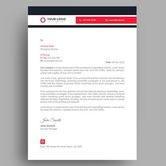 Modello di carta intestata aziendale moderno e professionale