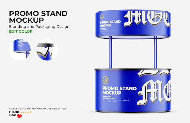 Mockup stand promozionale