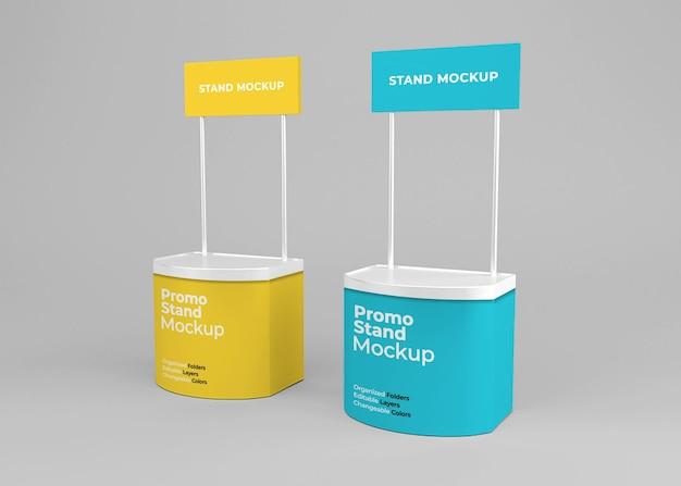 Progettazione di mockup di stand di promozione