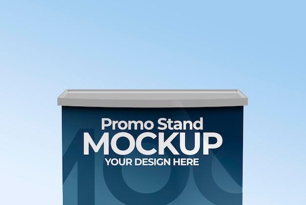 Mockup di stand promozionale per visualizzare il prodotto nel punto vendita