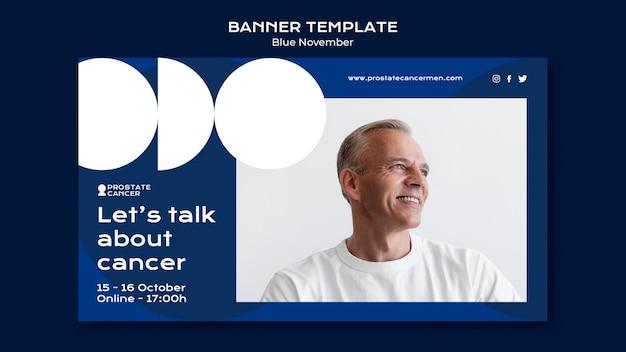 Modello di banner per la consapevolezza del cancro alla prostata