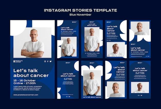 Raccolta di storie sui social media sulla consapevolezza del cancro alla prostata
