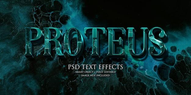Effetto testo proteus
