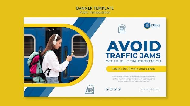 Modello di banner di trasporto pubblico