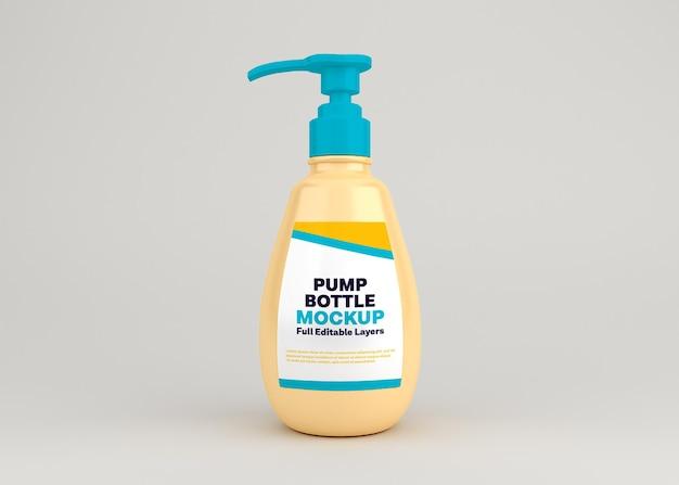 Rendering di progettazione mockup di disinfettante per le mani della bottiglia della pompa
