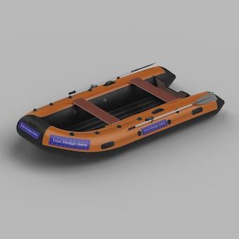 Pvc riverboat 3d mockup
