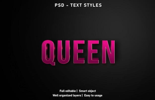 Effetto testo regina