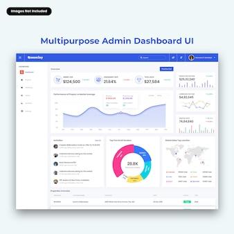 Interfaccia utente del dashboard di amministrazione multiuso queenley