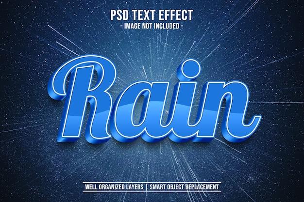 Effetto stile testo pioggia