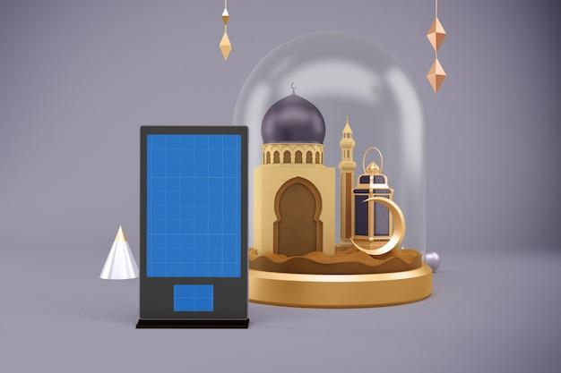 Ramadan advertising mockup