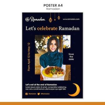 Modello di volantino per eventi di ramadan