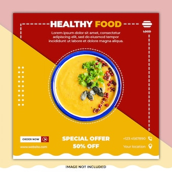 Post di social media banner gastronomici ramadan
