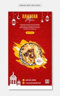 Ramadan food menu offri banner per social media