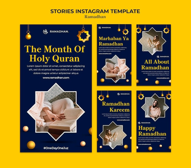 Modello di storie di instagram ramadan
