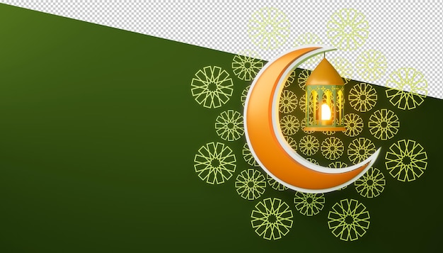Sfondo di ramadan kareem, rendering 3d.