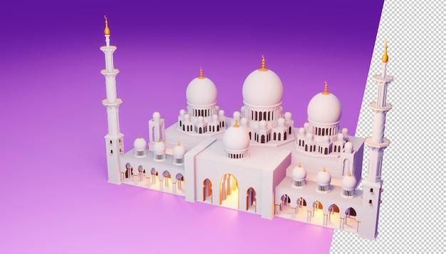Progettazione di ramadan kareem nel rendering 3d