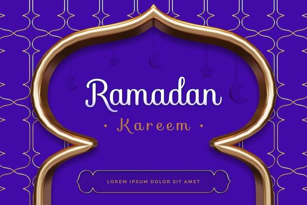 Ramadan kareem design con rendering 3d mockup