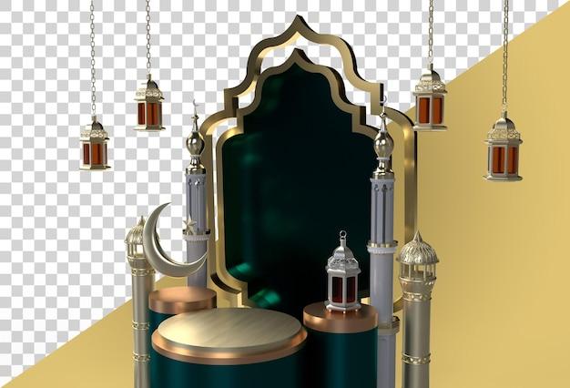 Ramadan kareem eid mubarak 3d design celebrazione islamica