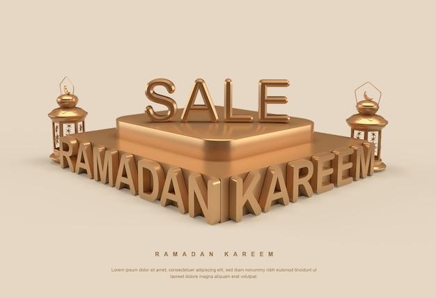 Banner di vendita di ramadan kareem