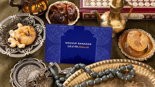 Mockup di stampa ramadan