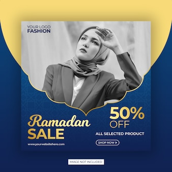 Modello di banner vendita ramadan