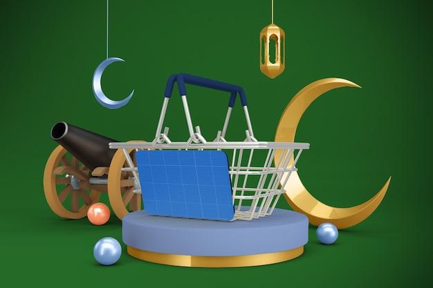 Cestino della spesa del ramadan