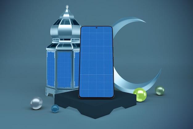 Mockup di smartphone ramadan