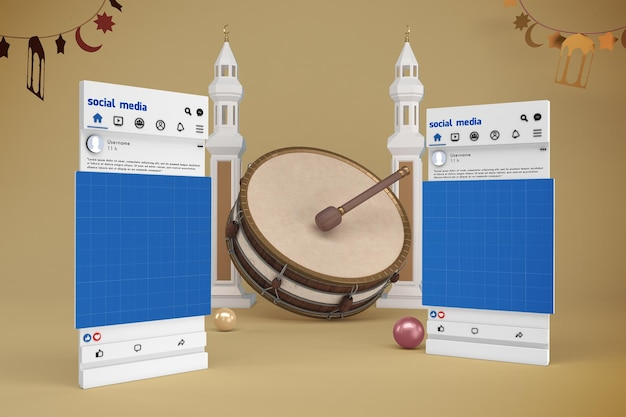 Mockup sui social media del ramadan