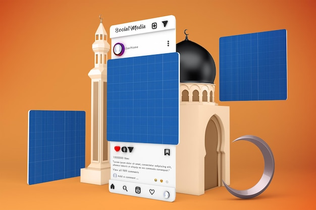 Ramadan social media v3 mockup