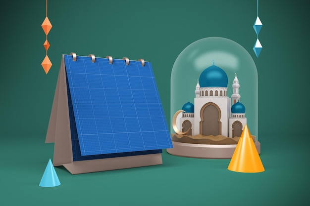 Calendario quadrato del ramadan
