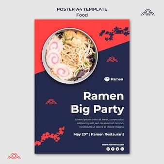 Modello di poster festa di ramen